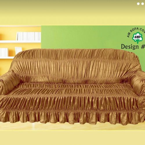 Golden Sofa Cover