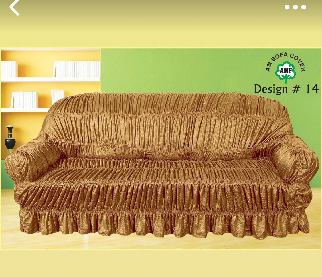 Golden Sofa Cover