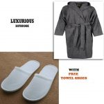Grey Bathrobe for Women ( 4 PCS Set )