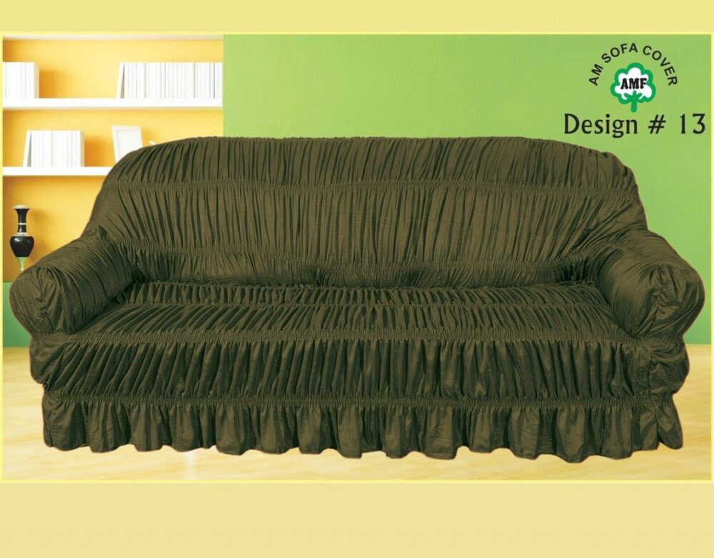 Mehndi Brown Sofa Cover