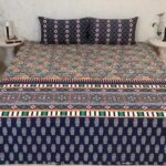 Multi Printed Bed Sheet With 2 Pillow Covers – 3 PCS