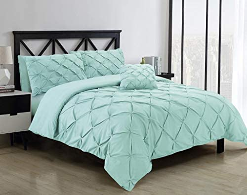 Pastel Blue Double Quilt Cover Set 8PCS Design