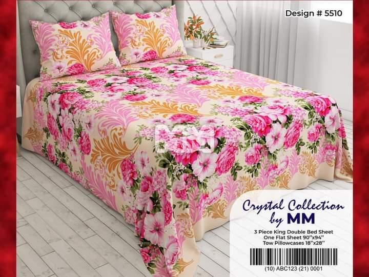 Pink White Flowers Sheet