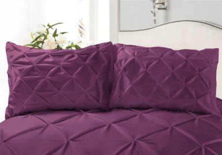 Purple Double Duvet Cover Set 8PCS