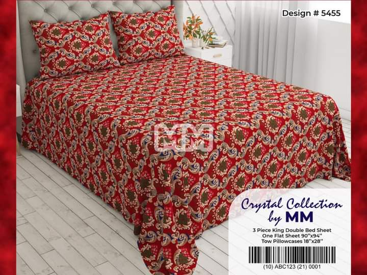 Red Yellow Bedding With 2 Pillow Covers – 3 PCS
