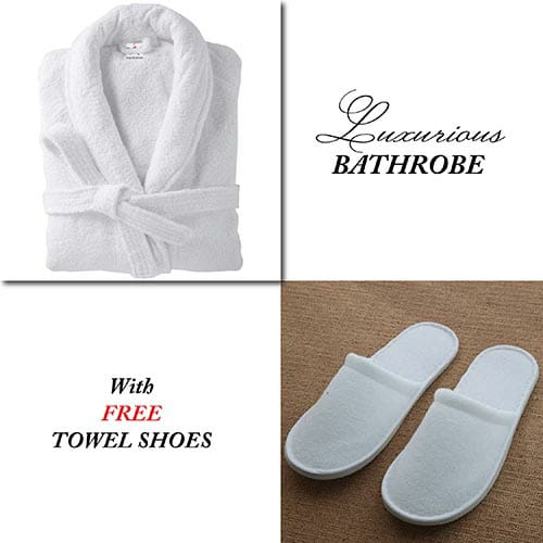 White Bathrobe for Women ( 4 PCS Set )