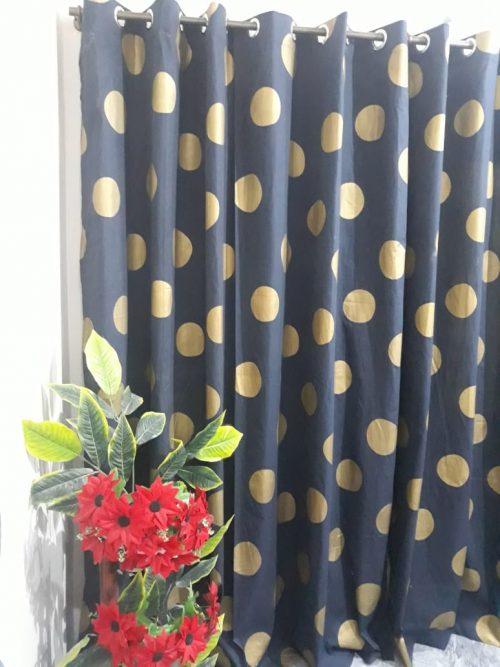 Window & Door Sunshine Block, Dust Proof Blackout Curtains (Pair)1