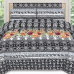 Black White Printed Bed Sheets