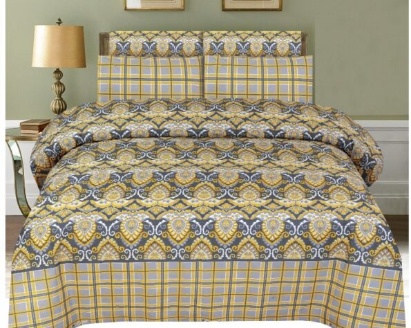 Brown Printed Bed Sheets with Pillows