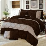 Dark Brown Border Double Duvet Cover Set 8PCS Design