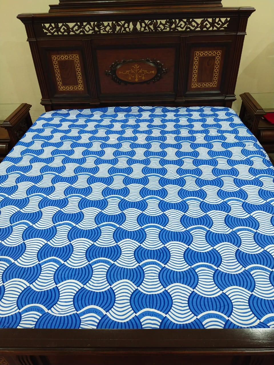 Printed Fitted Waterproof Mattress Cover King Size (2)