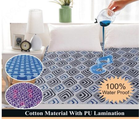 Printed Fitted Waterproof Mattress Cover King Size (3)