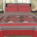 Red Printed Bedding Set