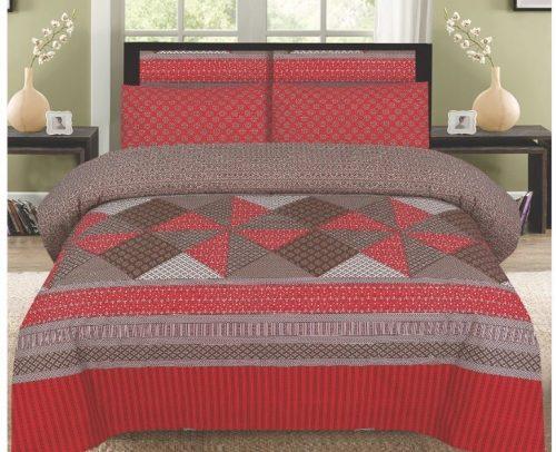 Red Printed Bedding Set