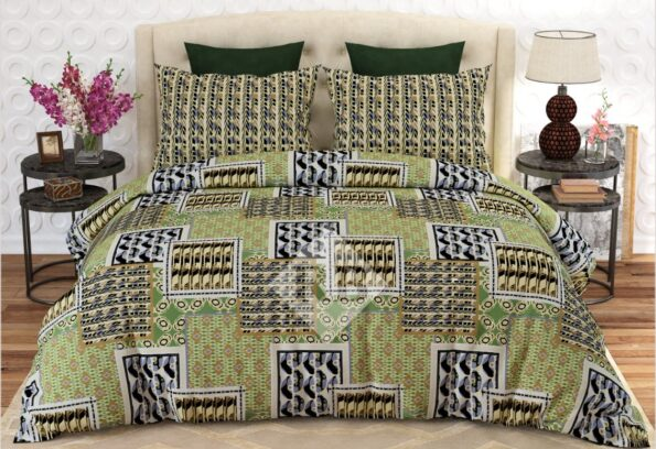 light Green Bed Sheets With 2 Pillow Covers – 3 PCS