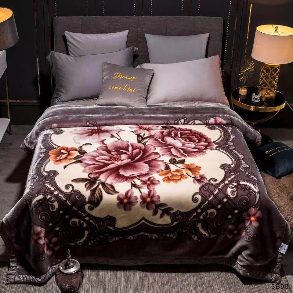 Brown Blossoms Blankets