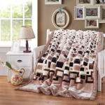 Brown Squares Blankets