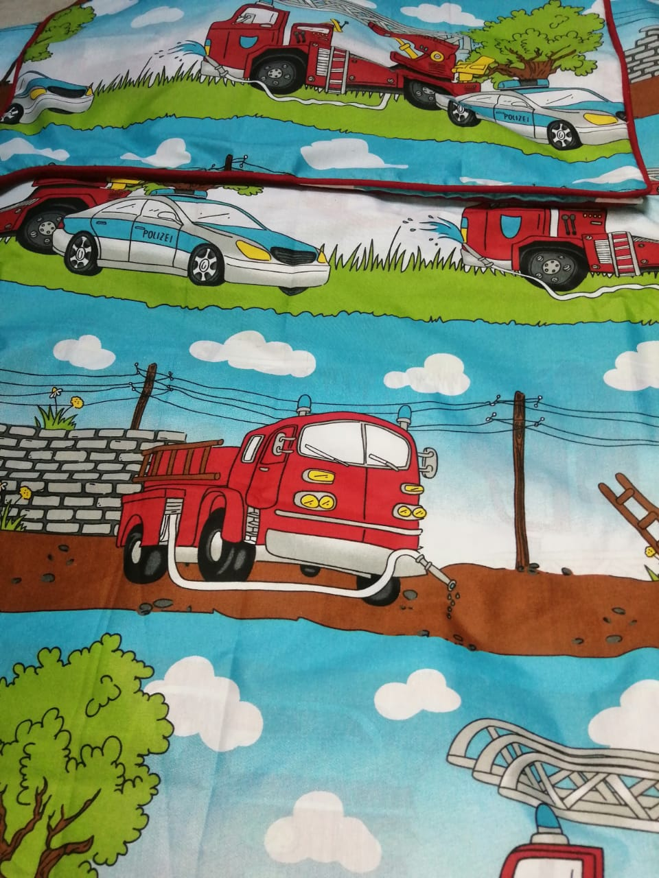 Car kids Bedding With 1 Pillow
