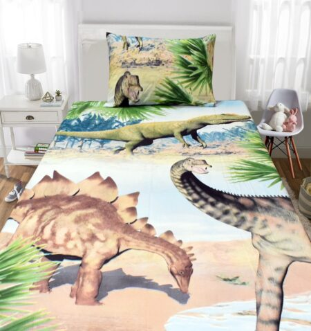 Dinosaur Forest Kids Bedding