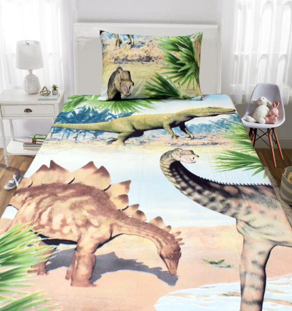 Dinosaur Forest Kids Bedding