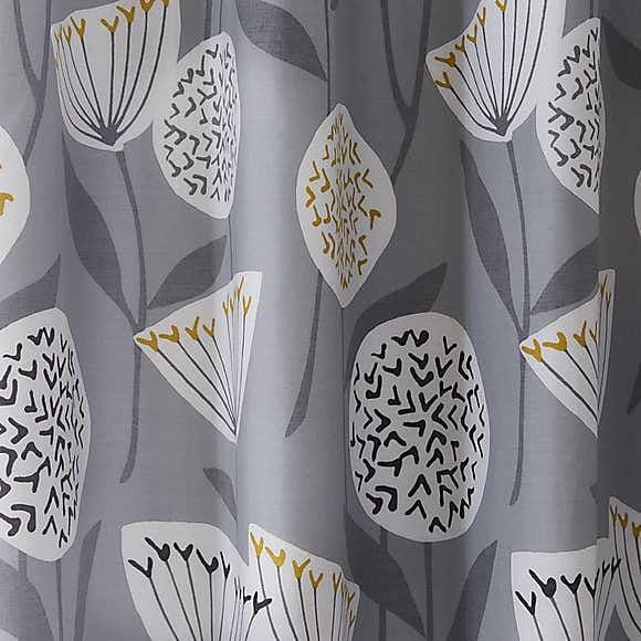 Grey Design Blackout Curtains 1