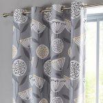 Grey Design Blackout Curtains