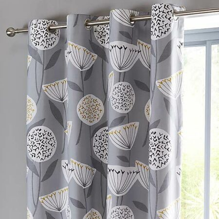 Grey Design Blackout Curtains