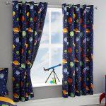 Space Blue Blackout Curtains
