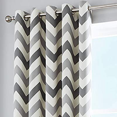White Black lining Blackout Curtains
