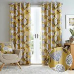 Yellow Groom Blackout Curtains 1