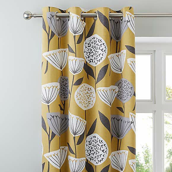 Yellow Groom Blackout Curtains