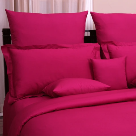 Deep Pink Bed Sheet with 2 Pillows
