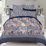 Blue Sheets Printed Comforter Set