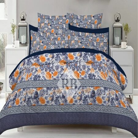Blue Sheets Printed Comforter Set