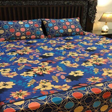 Bluish Printed Comforter Set