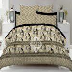 Brown Grey lining Comforter Set