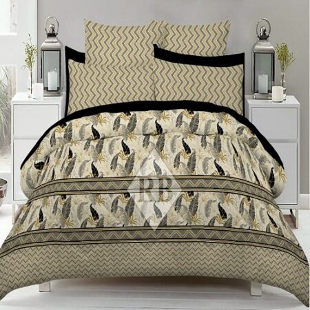 Brown Grey lining Comforter Set