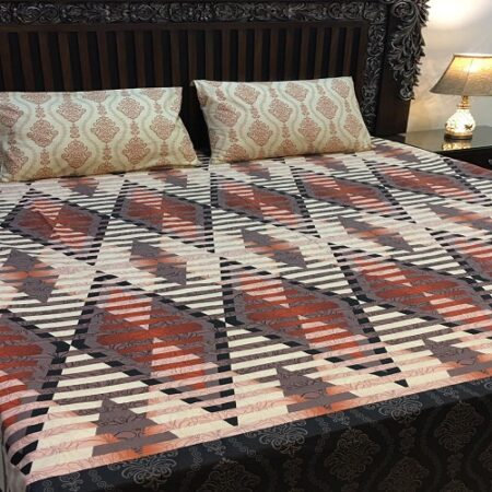 Dark Light Brown Grey Bedding Comforter Set