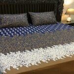 Multicolor Leaf Bed Cover With 2 Pillows – 3 PCS