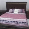 Pink Blue White Printed Comforter Set