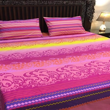 Pink Yellow Blue Comforter Set