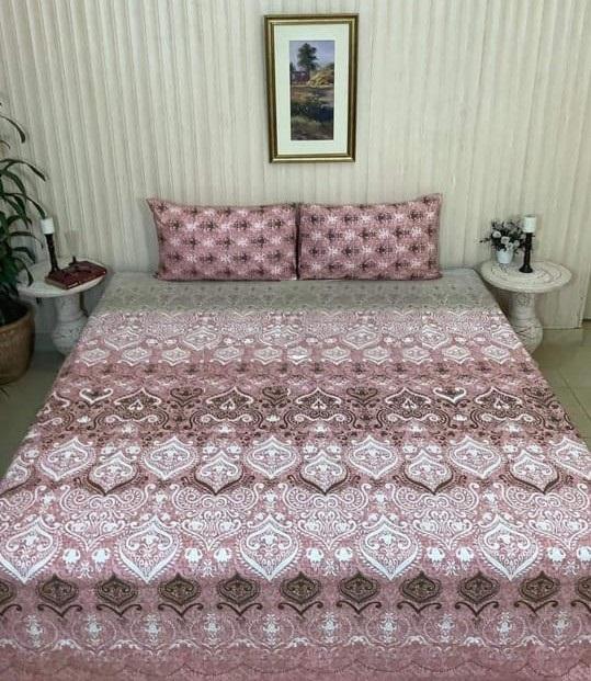 Pinkish Printed Comforter Set ( 6 PCS – 8 PCS )