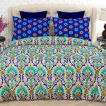 Purple Green Pattern Printed Comforter Set ( 6 PCS – 8 PCS )