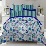 Sky Blue Bedding Comforter Set