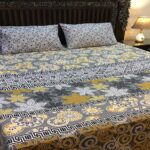 Yellow And Grey Color Comforter Set
