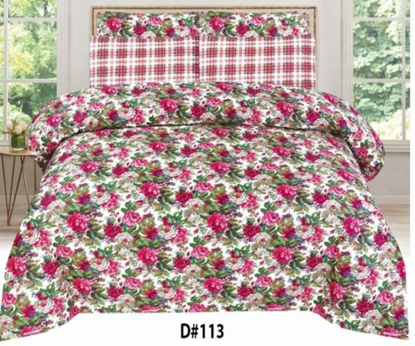 Flowers Printed Bed Sheets With 2 Pillow Covers