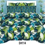 Leaf Printed Bed Sheets With 2 Pillow Covers