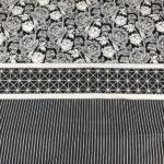 Black Pattern Printed Comforter Set ( 6 PCS – 8 PCS )