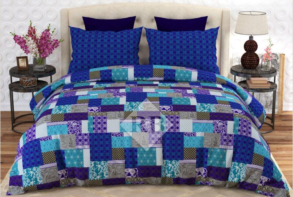 Blue Box Comforter Set ( 6 PCS - 8 PCS )