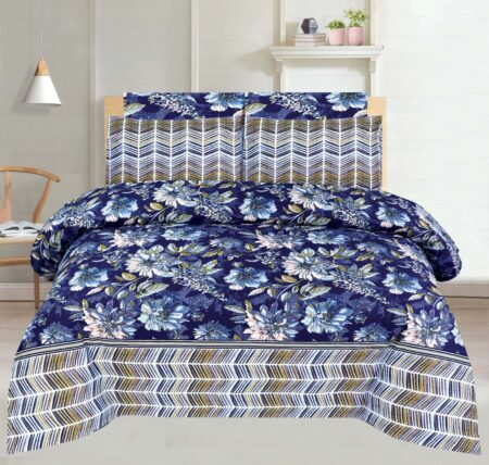 Blue Dyed Print Comforter Set